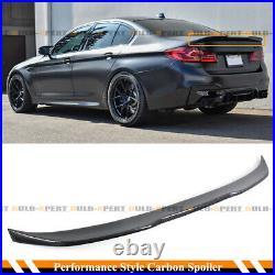 FOR 2017-2021 BMW G30 G38 530i 540i F90 M5 COMP STYLE CARBON FIBER TRUNK SPOILER