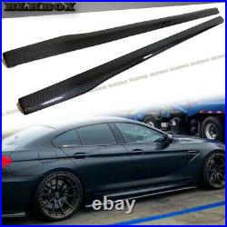 FRP Carbon Fiber Two Side Skirt Lip For 14-18 BMW F06 Gran-Coupe Stock M6 Bumper