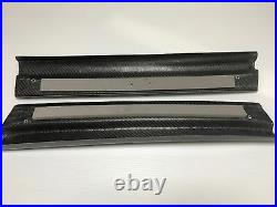 Feed Carbon Fiber Door Side Sill Step Molding Trim Panel For 93-02 Mazda Rx7 Fd