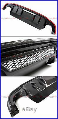 Fit 2014-2017 Infiniti Q50 Lh Style Gloss Real Carbon Fiber Rear Bumper Diffuser