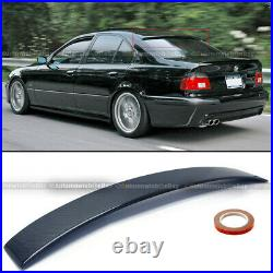 Fit 96-03 E39 5 Series AC Style Real Carbon Fiber Rear Window Roof Visor Spoiler