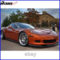Fits 05-13 Chevy Corvette C6 Z06 Zr1 Style Front Bumper Lip Carbon Fiber