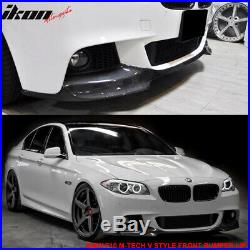 Fits 11-16 BMW F10 5-Series MT & M-Sport V Style Front Bumper Lip Carbon Fiber