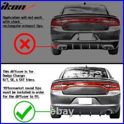 Fits 15-18 Dodge Charger RT Rear Bumper Lip Diffuser Carbon Fiber Print CFL PP