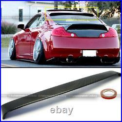 For 03-07 G35 2DR Custom Made Real Carbon Fiber Rear Roof Wing Visor Spoiler