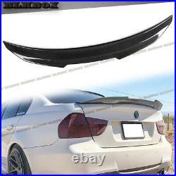 For 05-11 BMW E90 3-Series Sedan PSM Style Add-On Trunk Spoiler Carbon Fiber Lip