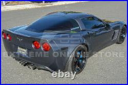 For 05-13 Corvette C6 ZR1 Style HYDRO CARBON FIBER Rear Trunk Lid Wing Spoiler