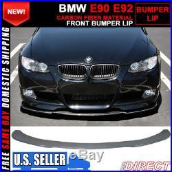 For 06-13 BMW E90 E92 Front Bumper Lip Custom H Style Carbon Fiber CF
