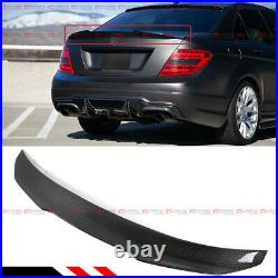 For 08-14 Mercedes Benz W204 C250 C300 Carbon Fiber Psm Style Trunk Spoiler Wing