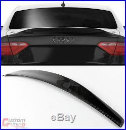 For 08-17 Audi A5 B8 Cat Style Highkick Duckbill Carbon Fiber Trunk Spoiler Wing