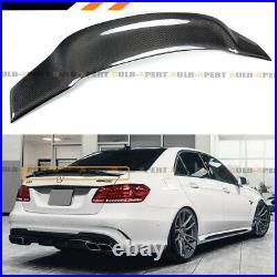 For 10-16 W212 E300 E350 E550 E63 Amg Sedan Rt Style Carbon Fiber Trunk Spoiler