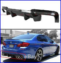 For 11-16 BMW F10 5 Series 535i 528i Carbon Fiber Rear Bumper Diffuser-DMT Style
