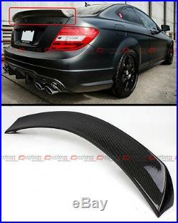 For 12-15 Mercedes Benz W204 C63 Amg 2 Door Carbon Fiber Highkick Trunk Spoiler
