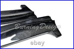 For 13-Up Ford Focus ST RS Side Skirts Hatchback Bottom Carbon Fiber Molding Lip