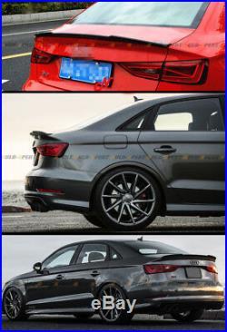 For 14-19 Audi A3 S3 Rs3 Sedan Duckbill Highkick Carbon Fiber Trunk Spoiler Wing