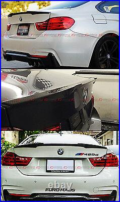 For 14-2020 Bmw F32 4 Series M4 Style Carbon Fiber Trunk Boot LID Spoiler Wing