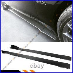 For 14-2020 Infiniti Q50 Carbon Fiber Access Style Side Skirt Extension Splitter