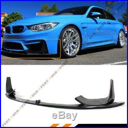 For 15-19 BMW M3 M4 Carbon Fiber 3pcs Front Bumper Lip Spoiler With Splitters Kit