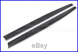 For 15-20 BMW F82 M4 Performance Style CARBON FIBER Side Skirts Panel Extension