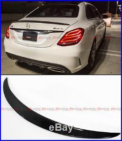 For 15-2020 Mercedes Benz W205 C300 C400 4matic Carbon Fiber Trunk Spoiler Wing