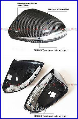 For 15-21 Mercedes Benz W205 C300 C400 C43 Replacement Carbon Fiber Mirror Cover
