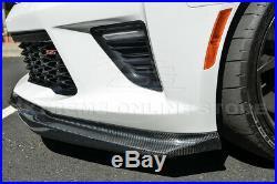 For 16-Up Camaro SS EOS T6 Style CARBON FIBER Front Bumper Lower Lip Splitter