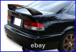 For 2001-2005 Honda Civic Coupe Carbon Fiber Rear Trunk Spoiler WithLED Brake Lamp