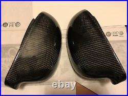 For 2006-2008 VW Golf V Mk5 GTI Carbon Fiber Wing Mirror Covers Cap Pair OEM-fit