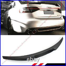 For 2009-12 Audi A4 B8 V Style Highkick Duckbill Carbon Fiber Trunk LID Spoiler
