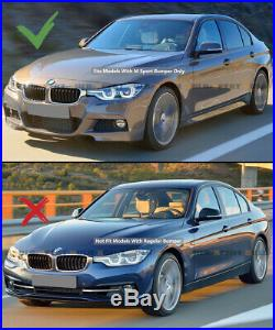 For 2012-18 BMW F30 F31 M Sport VRS Style Carbon Fiber Front Bumper Lip Splitter