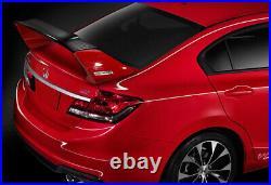 For 2012-2015 Honda Civic 4DR MUGEN Carbon Fiber Factory Red Rear Spoiler Wing