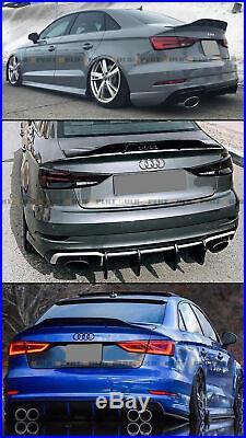 For 2014-18 Audi A3 S3 Rs3 8v Sedan Rt Style Carbon Fiber Duckbill Trunk Spoiler