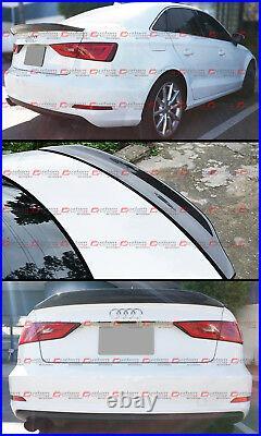 For 2014-18 Audi A3 S3 Sedan Cat Style Highkick Carbon Fiber Trunk Spoiler Wing