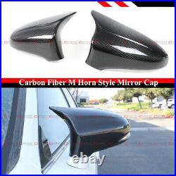 For 2014-19 Lexus Gs Gsf Es Rc Rcf Ls M Style Carbon Fiber Side Mirror Cover Cap