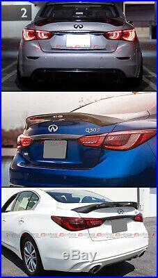 For 2014-2020 Infiniti Q50 Highkick Carbon Fiber Duckbill Trunk LID Spoiler Wing