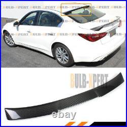 For 2014-2020 Infiniti Q50 Vip M4 Style Carbon Fiber Rear Roof Window Spoiler