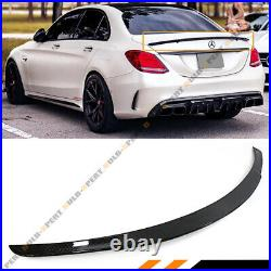 For 2015-18 Mercedes Benz W205 C63 Amg S B Style Carbon Fiber Trunk Spoiler Wing