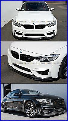 For 2015-19 BMW F80 M3 F82 F83 M4 V Style Carbon Fiber Front Bumper Lip Splitter