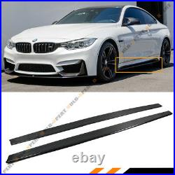 For 2015-19 BMW M4 & F80 M3 Carbon Fiber MP Style Side Skirt Extension Splitters