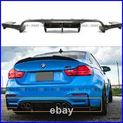 For 2015-19 Bmw F80 M3 F82 M4 Carbon Fiber Rear Bumper Big Diffuser 3pc V Style