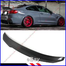 For 2015-19 Bmw F82 M4 Psm Style High Kick Carbon Fiber Trunk LID Spoiler Wing
