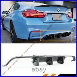 For 2015-2019 Bmw F80 M3 F82 F83 M4 V2 Big Fin Carbon Fiber Rear Bumper Diffuser