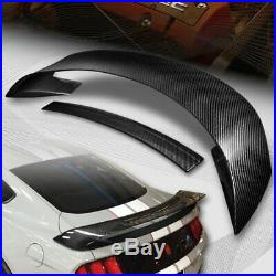 For 2015-2019 Ford Mustang GT350R Style Real Carbon Fiber Rear Trunk Spoiler