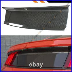 For 2015-2020 Ford Mustang Carbon Fiber Trunk Panel Decklid Trim Cover Overlay