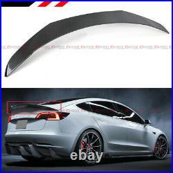 For 2017-2021 Tesla Model 3 V Style Sport Carbon Fiber Trunk Lid Spoiler Wing