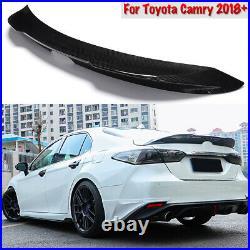 For 2018-2021 Toyota Camry Carbon Fiber Print TRD Style Duckbill Trunk Spoiler