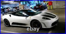 For Ferrari430 HM Style Carbon Fiber Front Lip Diffuser Side Skirt Body Kit