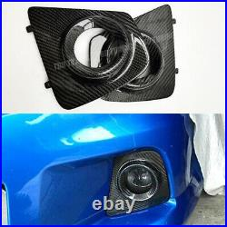 For Opel Vauxhall Astra H VXR OPC Real Carbon Fiber Fog Light Cover Surround