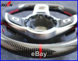 For VW Golf 7 GTI Golf R MK7 2014-2018 Replace Carbon Fiber Steering Wheel Cover