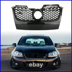 For Vw Golf Mk5 Gti Carbon Fibre Black Honeycomb Mesh Front Bumper Centre Grille